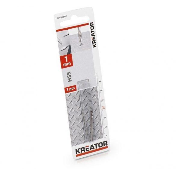 Kreator csigafúró készlet 3 részes 1.0x34 mmes köszörült KRT010101