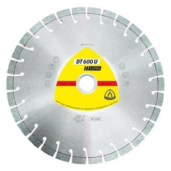 Klingspor gyémánt 230X2,6X22,23  DT600U beton
