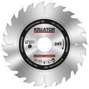 Kreator körfűrészlap 170 mm 24 fog fa  KRT020412