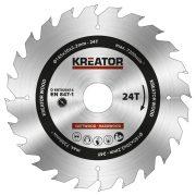 Kreator körfűrészlap 185 mm 24 fog fa  KRT020414