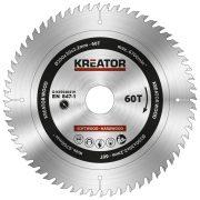 Kreator körfűrészlap 200 mm 60 fog fa  KRT020419