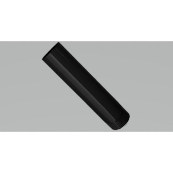 Füstcső 500 mm fekete fi 150 mm