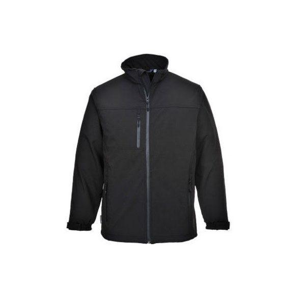 Kabát fekete softshell TK50   4XL