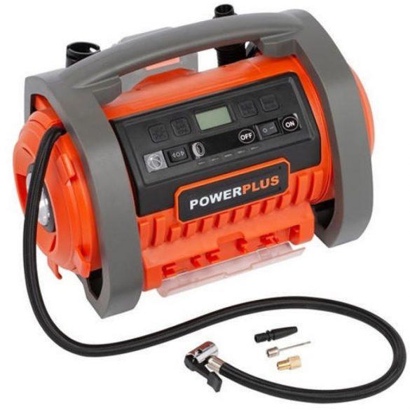 PowerPlus Dual Power akkus kompresszor alapgép 20V POWDP7040