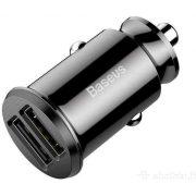 Baseus Grain 3.1A dual USB fekete szivargyújtó töltő