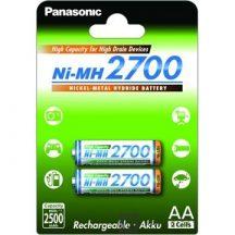 PANASONIC AKU.NI-MH 2XAA 2700 MAH HIGH CAPACITY
