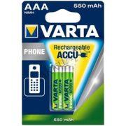 Varta AAA (HR03) 550mAh tölthető akku 2db/bliszter (58397101402)