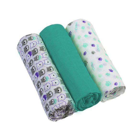 BabyOno textilpelenka színes 3db 348/05 türkiz