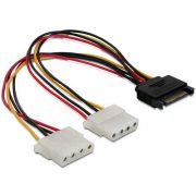 Delock 65159 SATA táp visszaalakító Y /KKTSAP01M02/ kábel