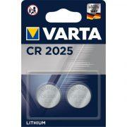 VARTA CR2025 lithium gombelem 2db/bliszter (6025101402)