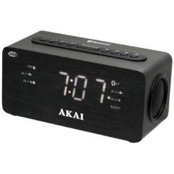 Akai ACR-2993 bluetooth-os kettős ébresztőóra usb töltővel