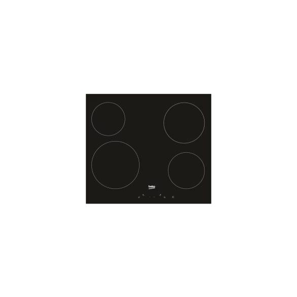Kerámia főzőlap Beko HIC 64401 (4 zóna; fekete szín)