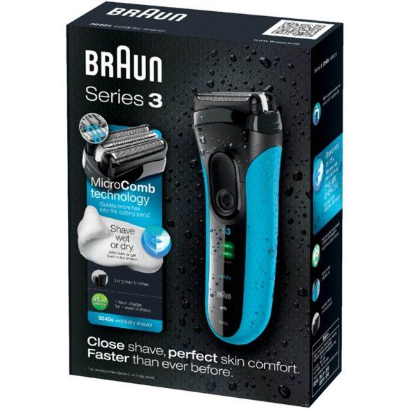 Braun 3040 (kék) borotva