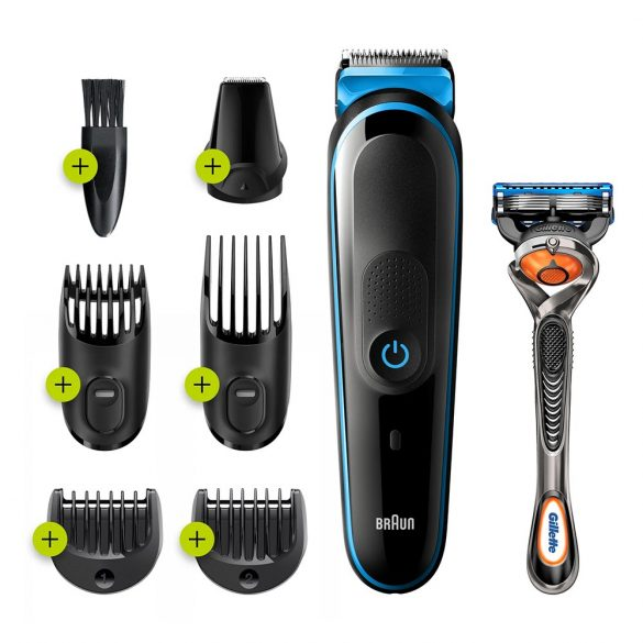Braun Base MGK3245 hajvágó / olló fekete, kék
