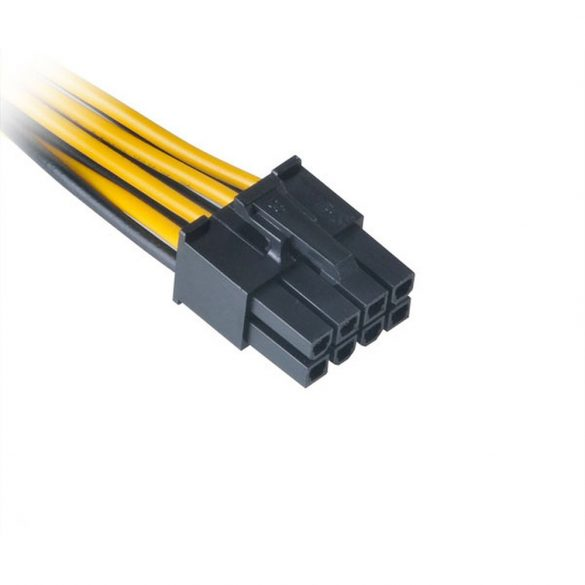 Akasa 8pin ATX12V - 6pin PCIe adapter - 15cm - AK-CB051