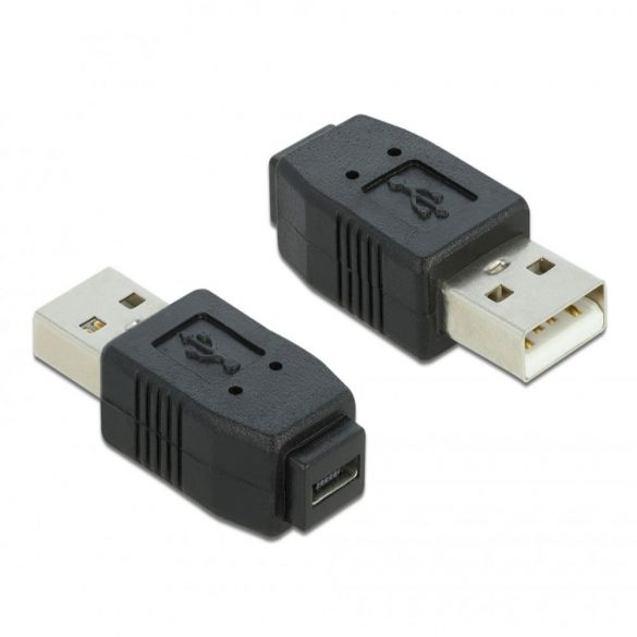 DeLOCK Adapter USB micro-A+B női USB2,0-A-hoz férfi USB 2,0 A Fekete