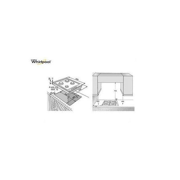 Whirlpool AKM 268 IX Gáz Főzőlap