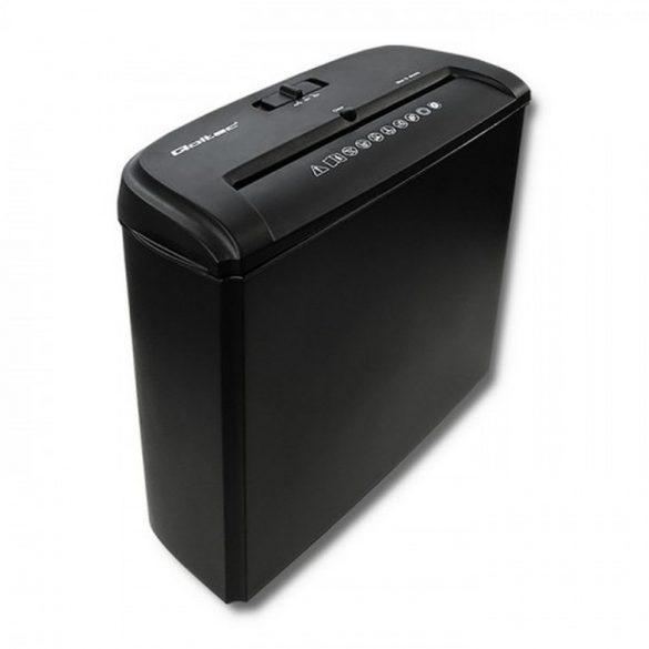 Qoltec 50321 papír aprító Párhuzamos aprítás 22 cm 72 dB Fekete