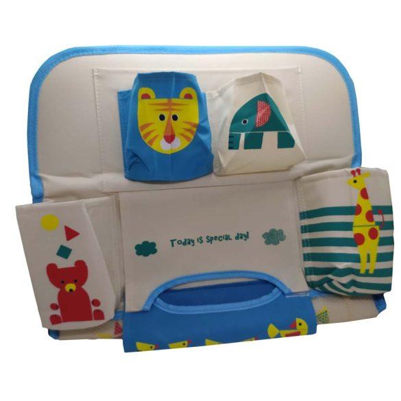 Autóülésre akasztható tároló - Beige-Kék állatos