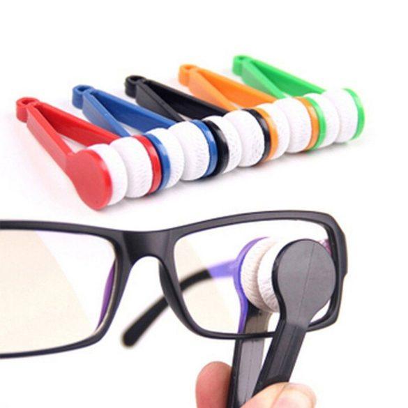 Szemüvegtisztító csipesz