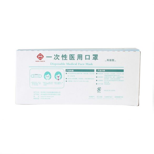 Orvosi egészségügyi szájmaszk 3 rétegű (50db/csomag)