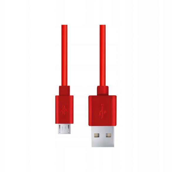 Esperanza MICRO USB KÁBEL2.0 A-B M/M 0.8M Piros