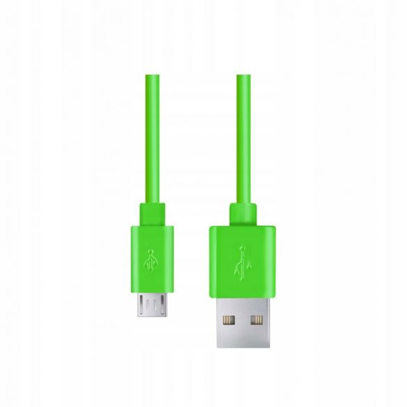 Esperanza MICRO USB KÁBEL2.0 A-B M/M 0.5M Zöld
