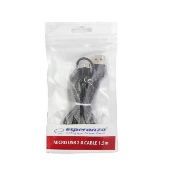Esperanza MICRO USB 2.0 Kábel A-B M/M 1.5M Fekete