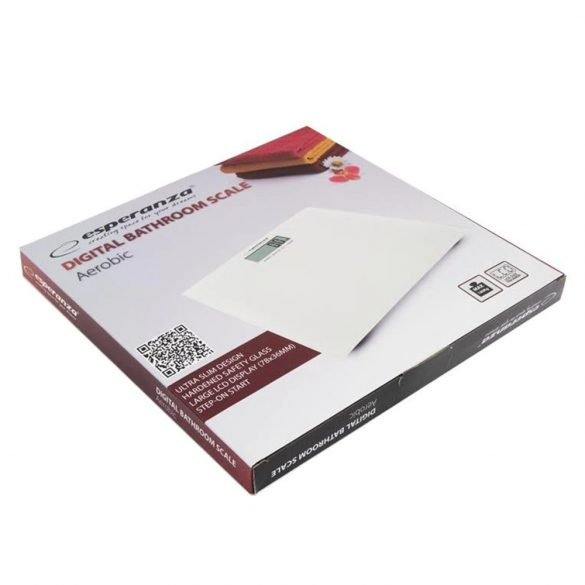 ESPERANZA AEROBIC fehér EBS002W fürdőszobai személyi mérleg LCD-s 180kg