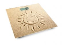 ESPERANZA SUNSHINE homok EBS006 fürdőszobai személyi mérleg LCD-s 180kg Üveg