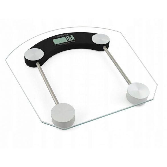Esperanza Pilates digitális fürdőszobai személyi mérleg LDC-s 180kg Üveg (EBS008K)