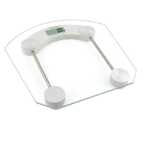 Esperanza Pilates digitális fürdőszobai személyi mérleg LDC-s 180kg Üveg (EBS008W)