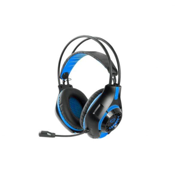 Esperanza gamer mikrofonos fejhallgató DEATHSTRIKE Kék