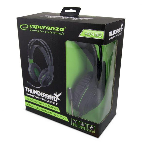 Esperanza Stereo gamer mikrofonos fejhallgató THUNDERBIRD