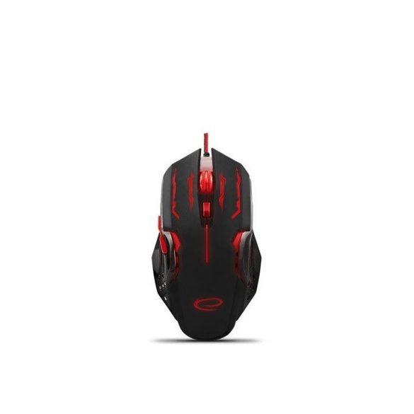 Esperanza Vezetékes gamer egér 6D optikai USB MX403 APACHE Piros