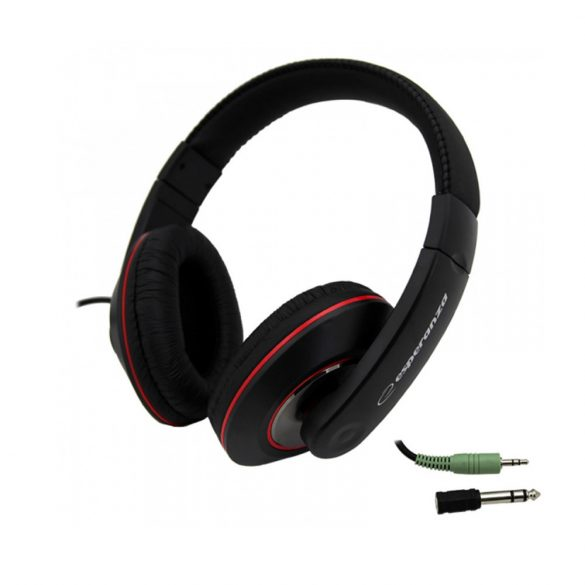 Esperanza EH121 HIP-HOP fekete vezetékes sztereó fejhallgató (EH121)
