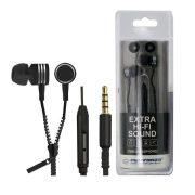 Esperanza Zipper EH161K Fülhallgató mikrofonnal - Fekete