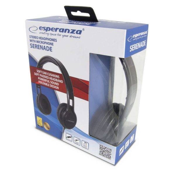 Esperanza Stereo Fejhallgató + Mikrofon SERENADE