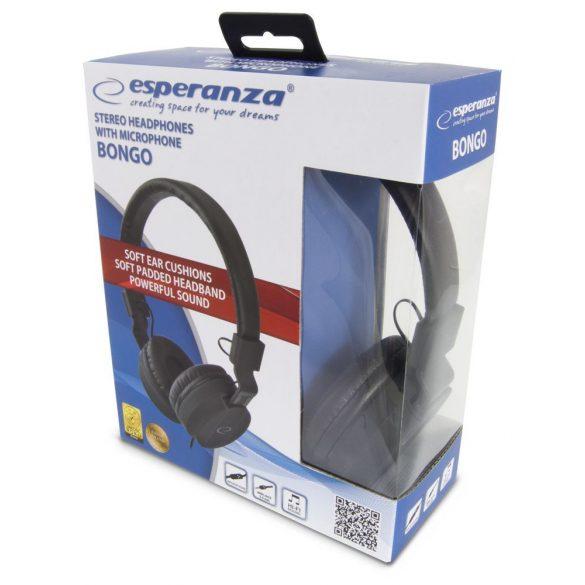 Esperanza Stereo Fejhallgató + Mikrofon BONGO