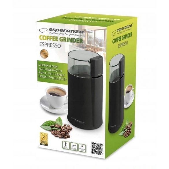 ESPERANZA ESPRESSO EKC001K fekete Elektromos kávédaráló 160W