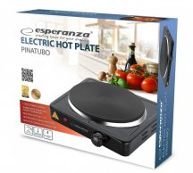 ESPERANZA PINATUBO fekete EKH002K Elektromos főzőlap 1500W Egylapos