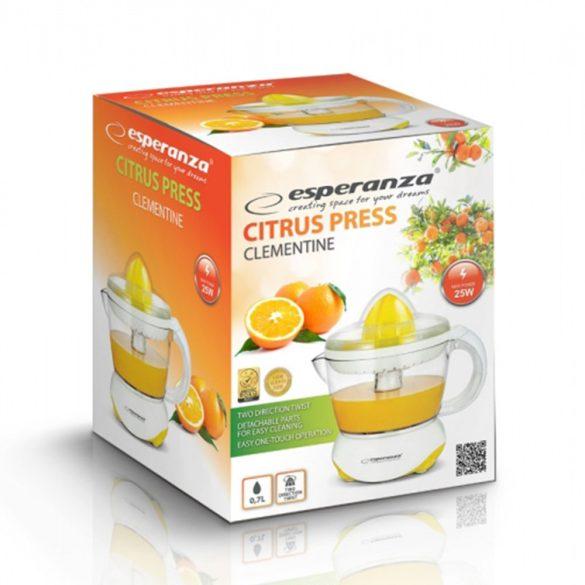 Esperanza CLEMENTINE citrus facsaró, gyümölcs facsaró fehér-sárga EKJ001Y