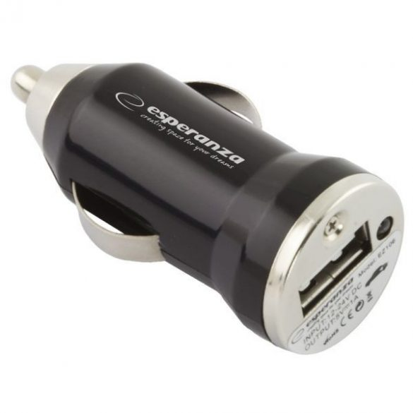Esperanza USB Autós töltő EZ106