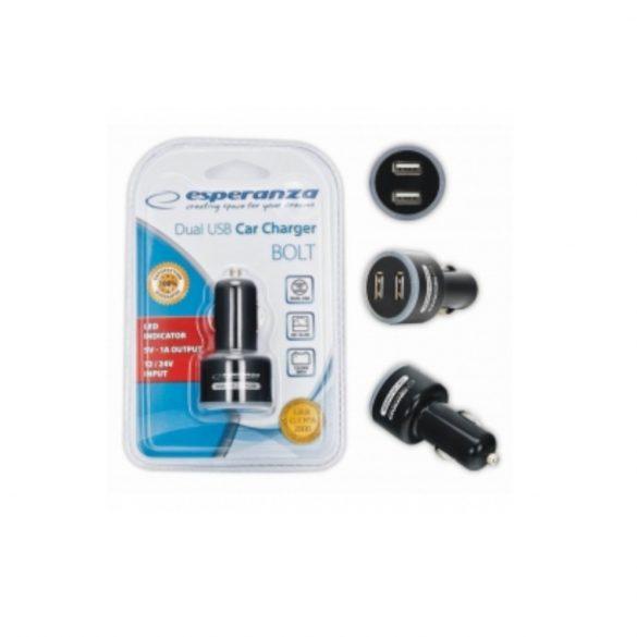 Esperanza DUAL USB Autós töltő EZ107 BOLT