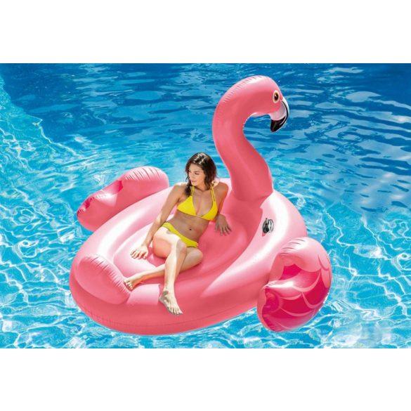 Rózsaszín flamingó felfújható ÓRIÁS úszósziget 195x200x120cm