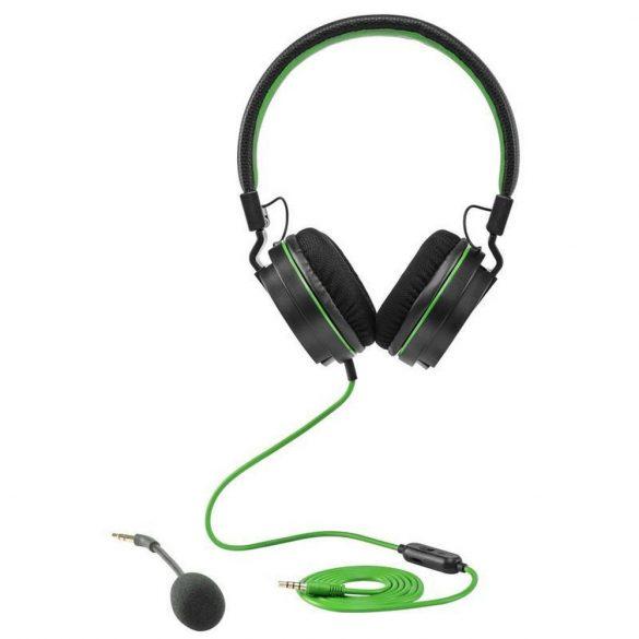 Snakebyte X fejhallgató fekete, zöld 3.5 mm
