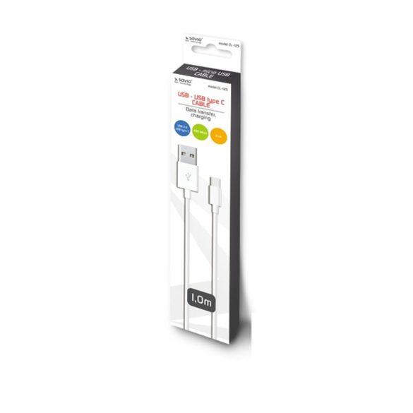 Savio CL-125 USB kábel 1 m 2,0 USB A USB C Fehér