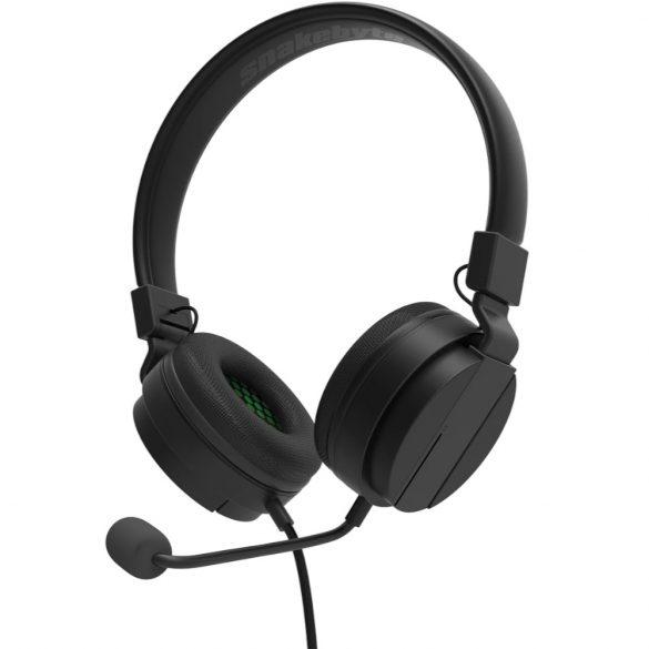 Snakebyte Gamer:Kit S fejhallgató/headset fekete, piros 3.5 mm