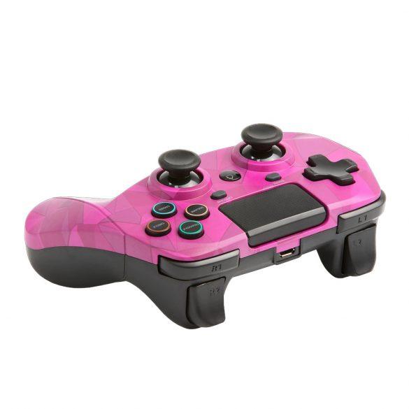 Snakebyte 4 S vezeték nélküli kontroller PlayStation 4, Playstation 3 analóg / digitális Bluetooth/USB pink
