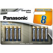 Panasonic Everyday elem LR6EPS-8BW 8db AA bliszter